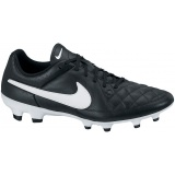 NIKE TIEMPO GENIO LEATHER FG NEGRO-BLANCO