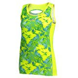 CAMISETA TIRANTES TROPICAL AMARILLO